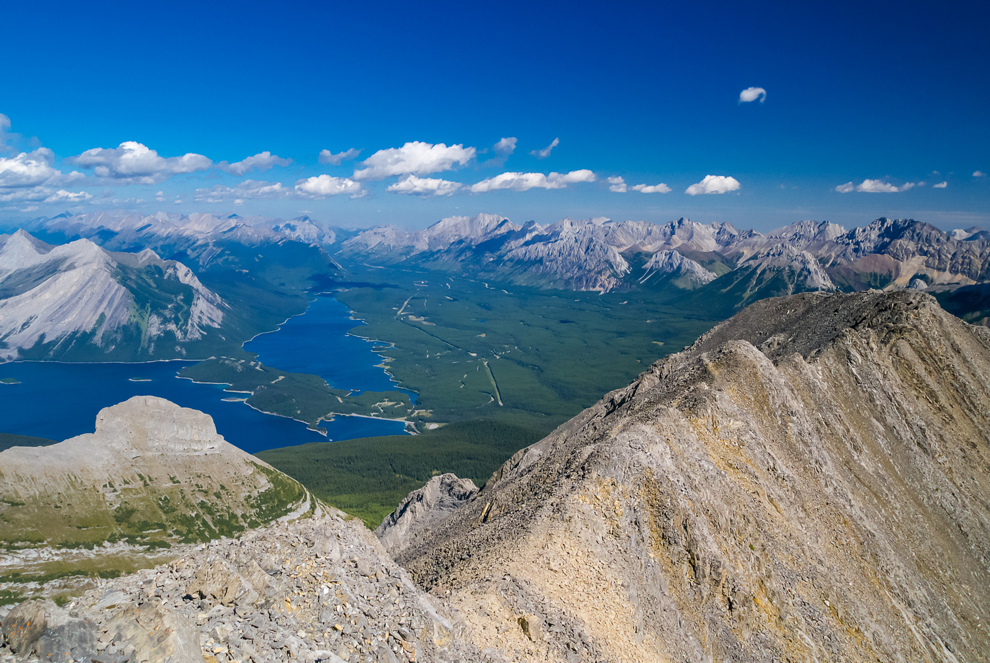 Looking over The Turrent and north up Lower Kananaskis Lake.