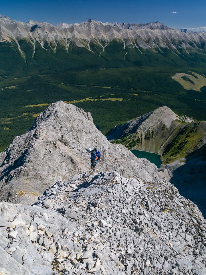 "Back on the lower NE ridge - still a ""no slip"" zone."