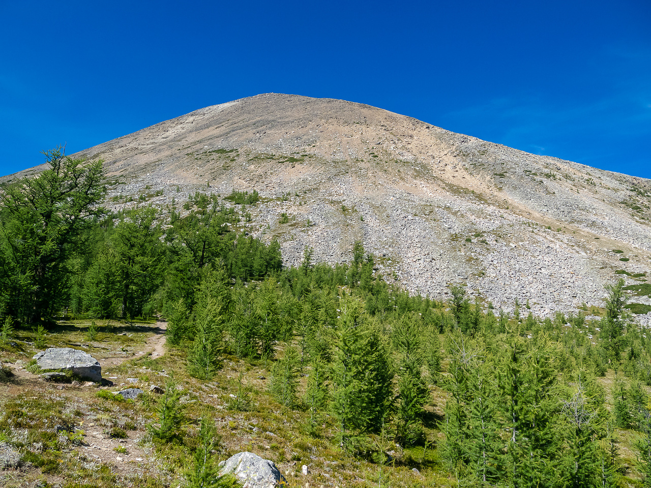 View up Mount Fairview from Saddleback Pass.