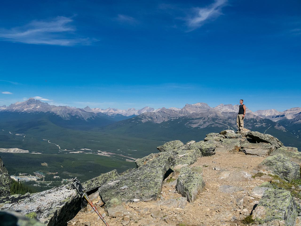 Vern on the summit of Saddle Mountain.