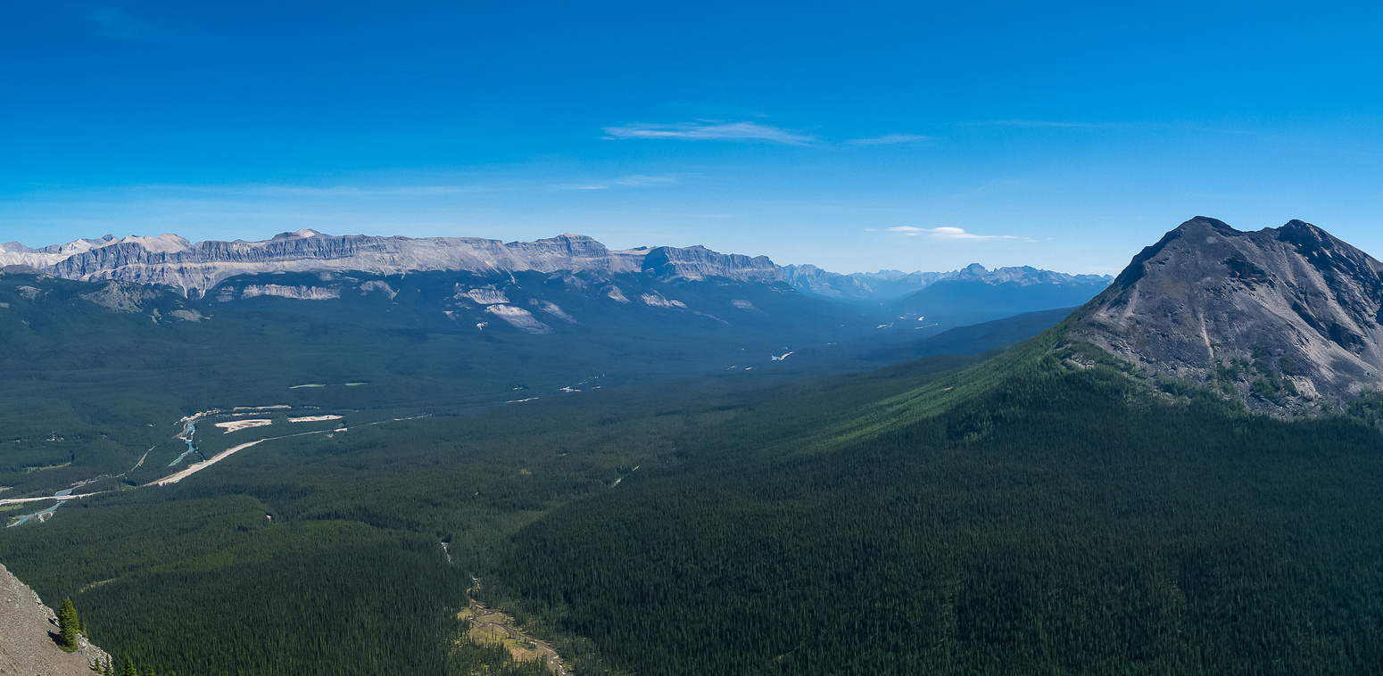 Protection Mountain and Castle Mountain at left.