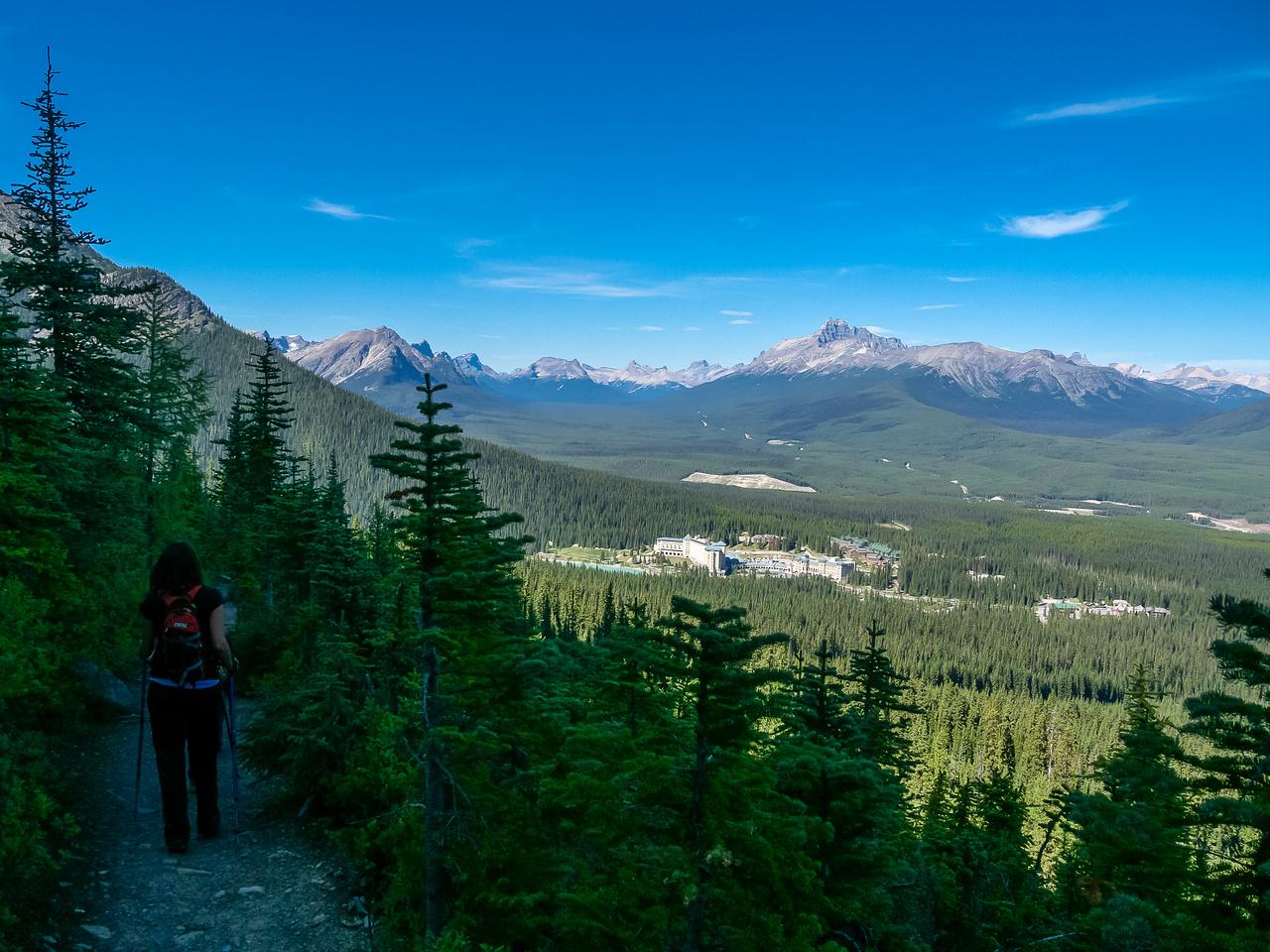 Descending back to Lake Louise from Saddleback Pass.