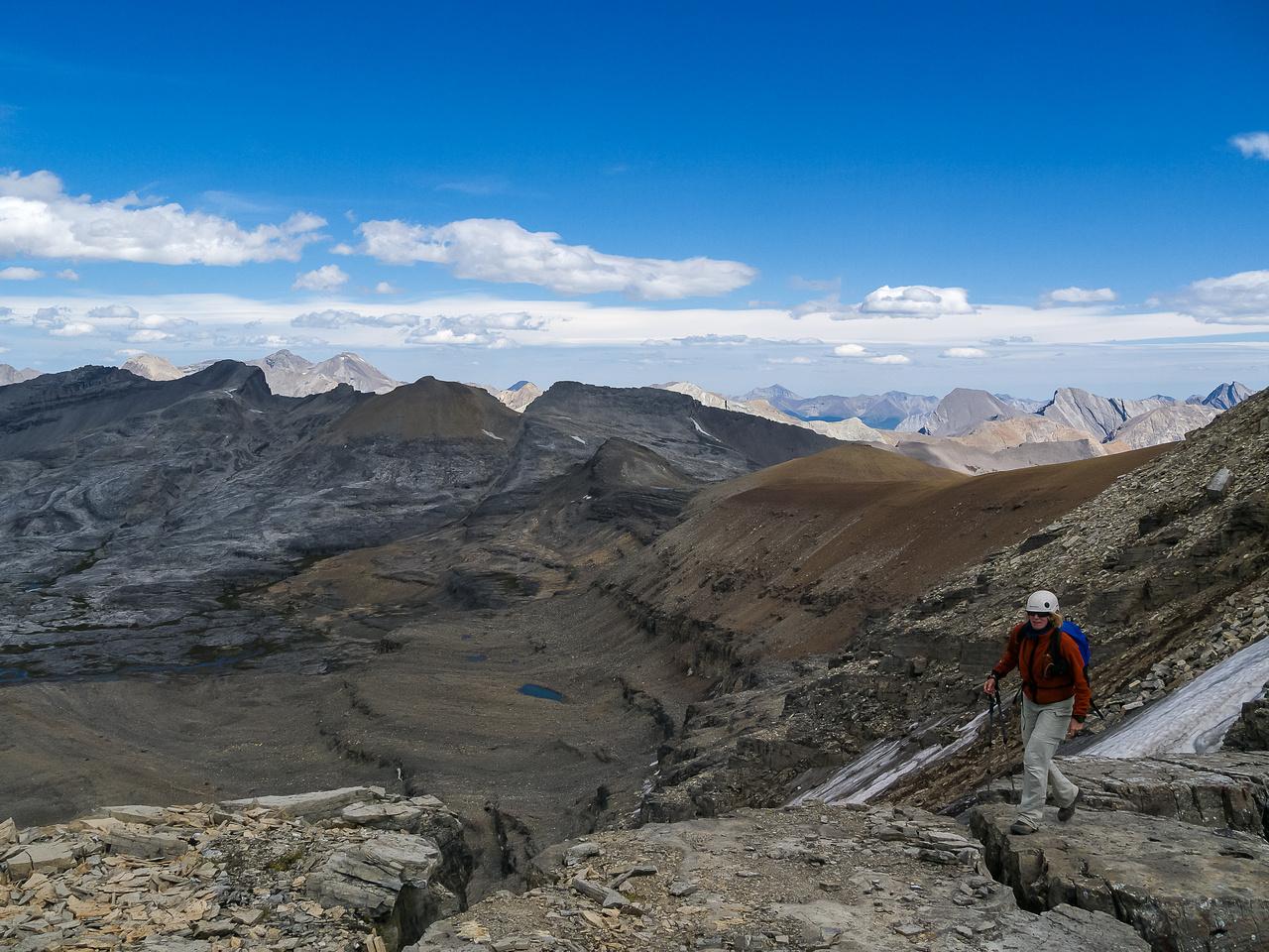 The ridge has some very interesting terrain.