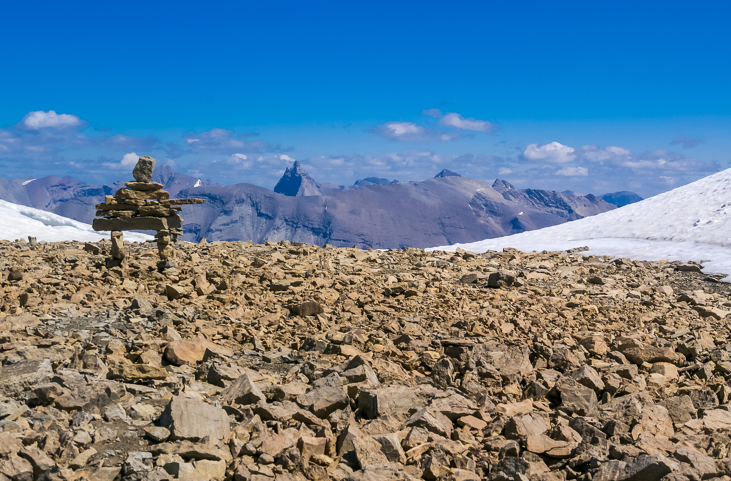Summit cairn with Recondite in the bg.