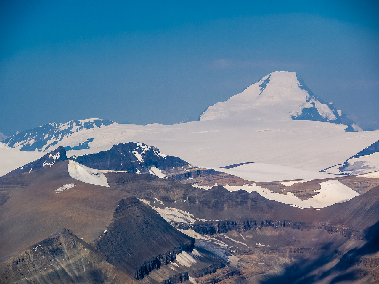 Incredible view of Alberta's highest mountain, Mount Columbia, which I finally summitted in 2015.
