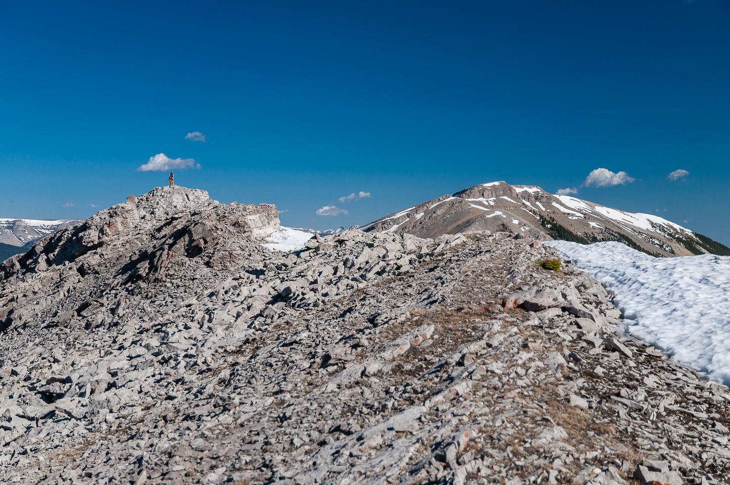 More summit ridge.