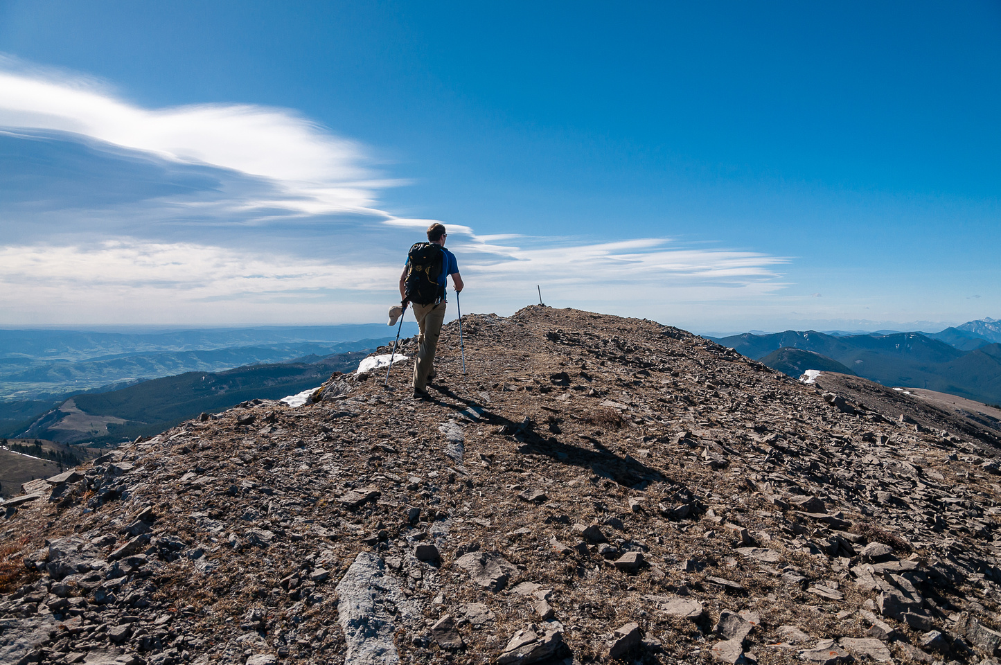 Keith approaches the summit of Coffin.