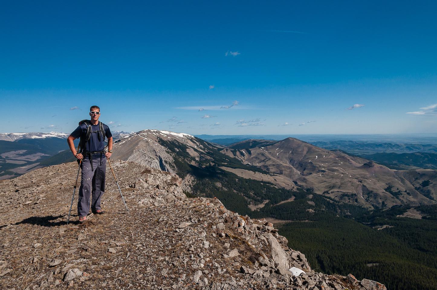 On the summit of Coffin Mountain.