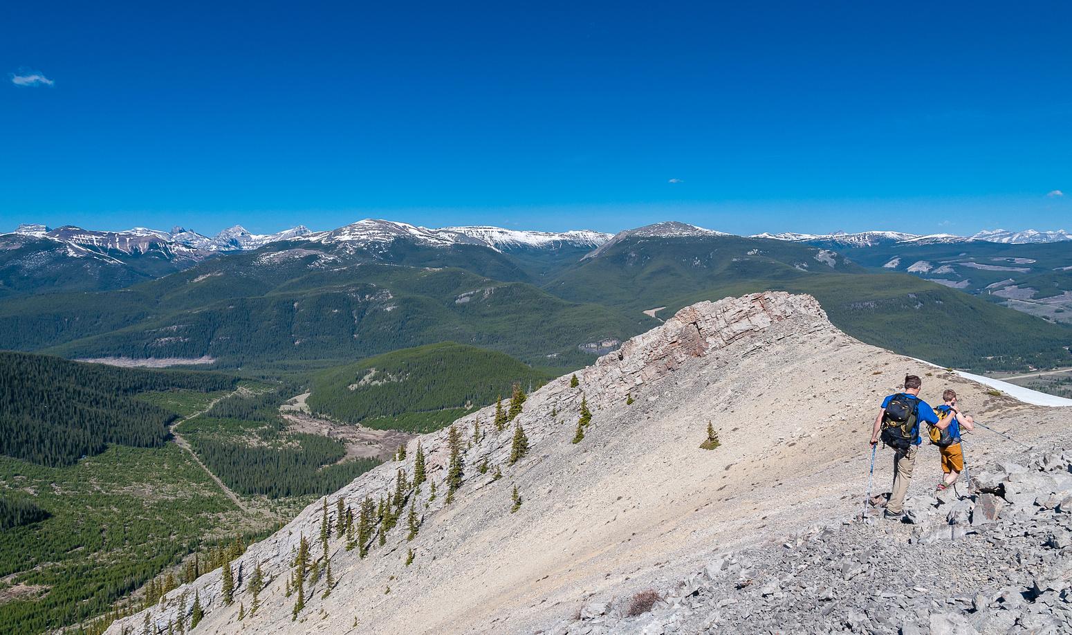 Descending the north ridge of Coffin.