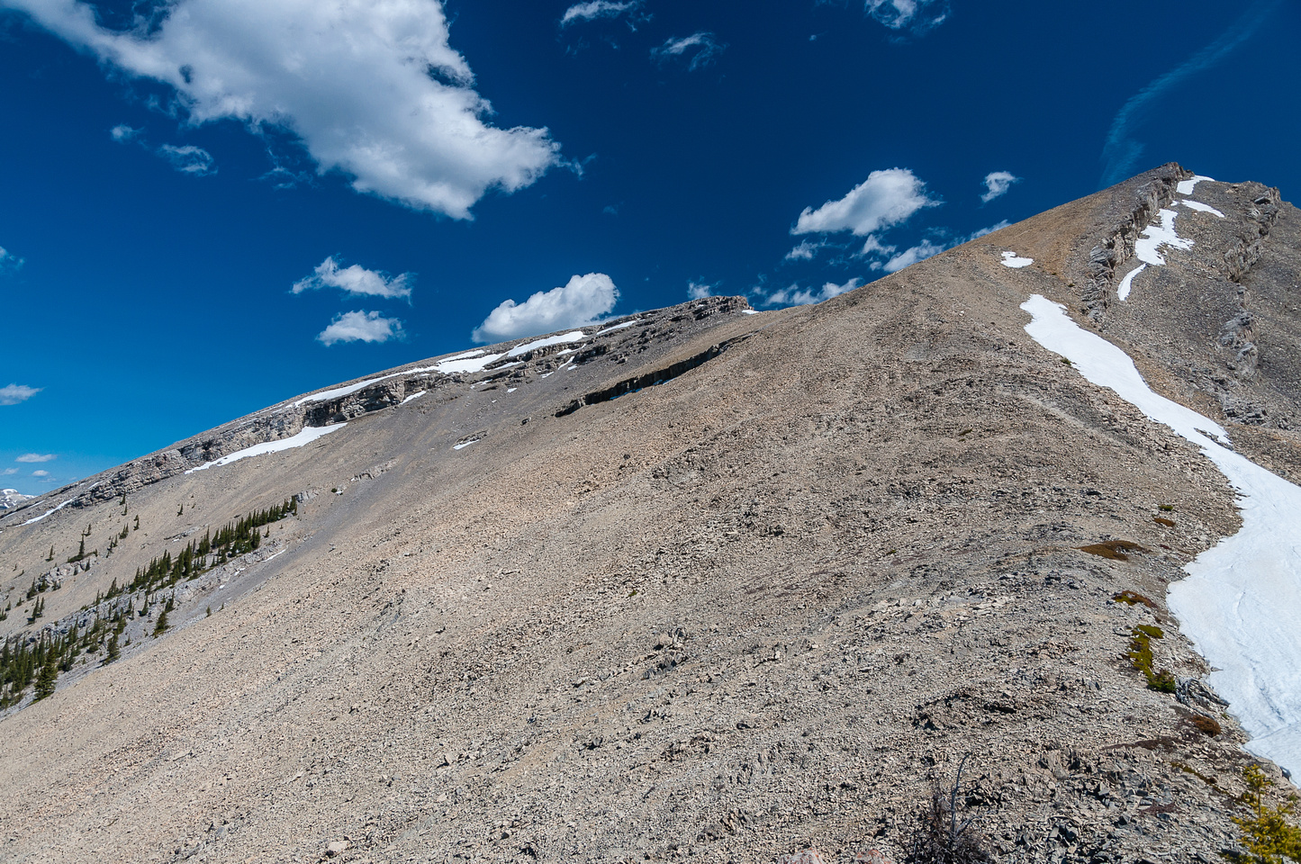 Continuing up the south ridge of Mount Livingstone.