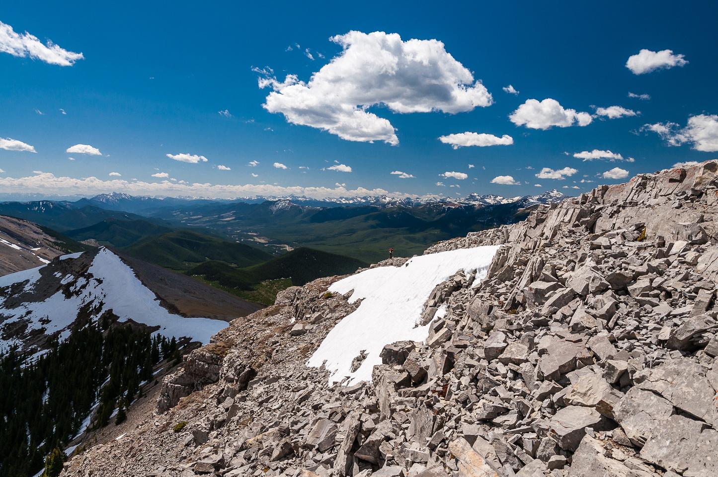 Wietse approaches the summit of Mount Livingstone.