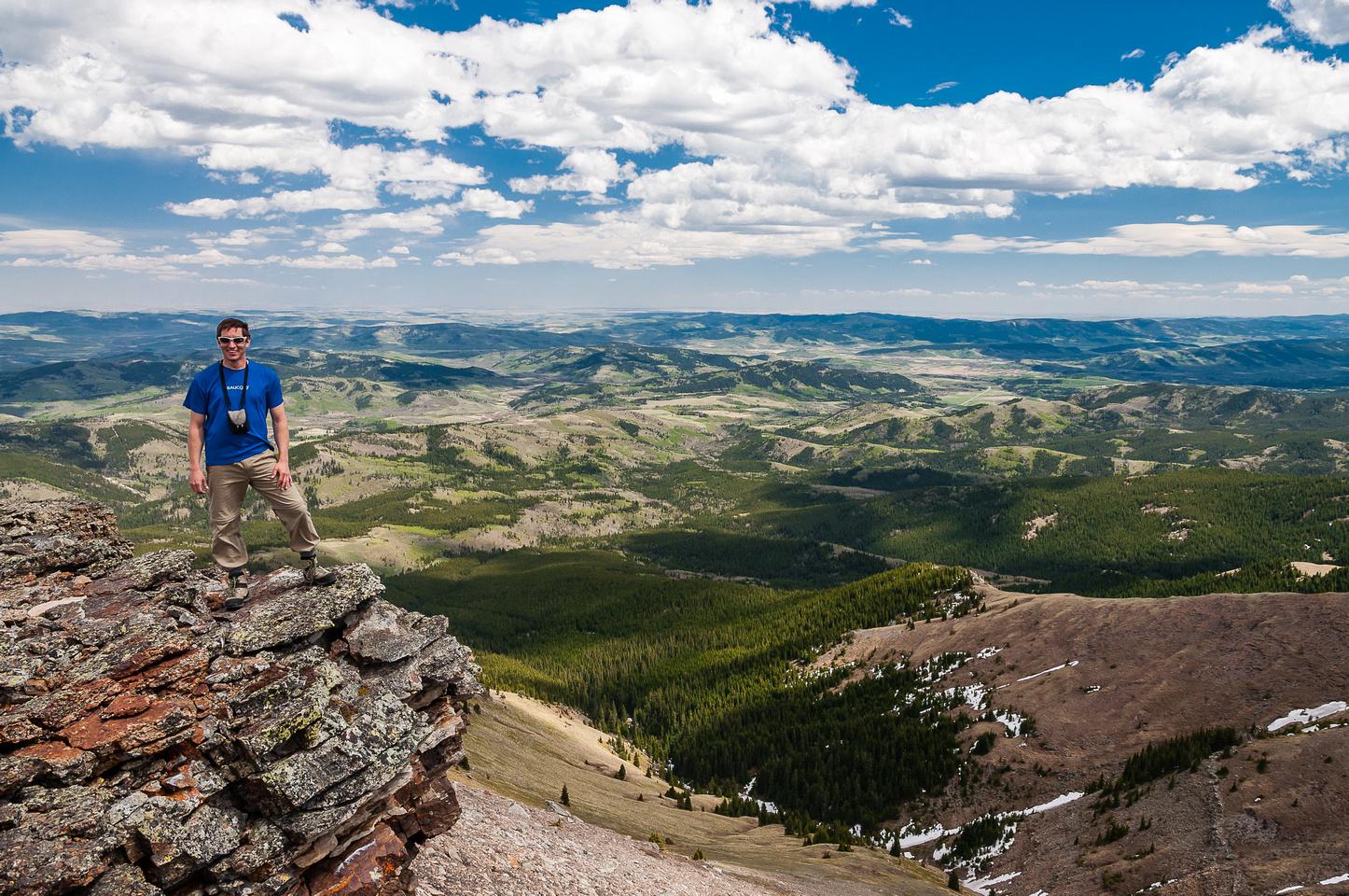 Keith on the summit of Saddle Mountain.