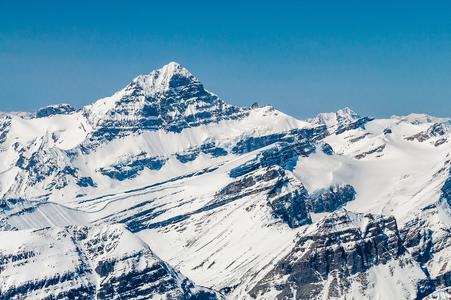 Mount Forbes is the highest peak in Banff National Park.