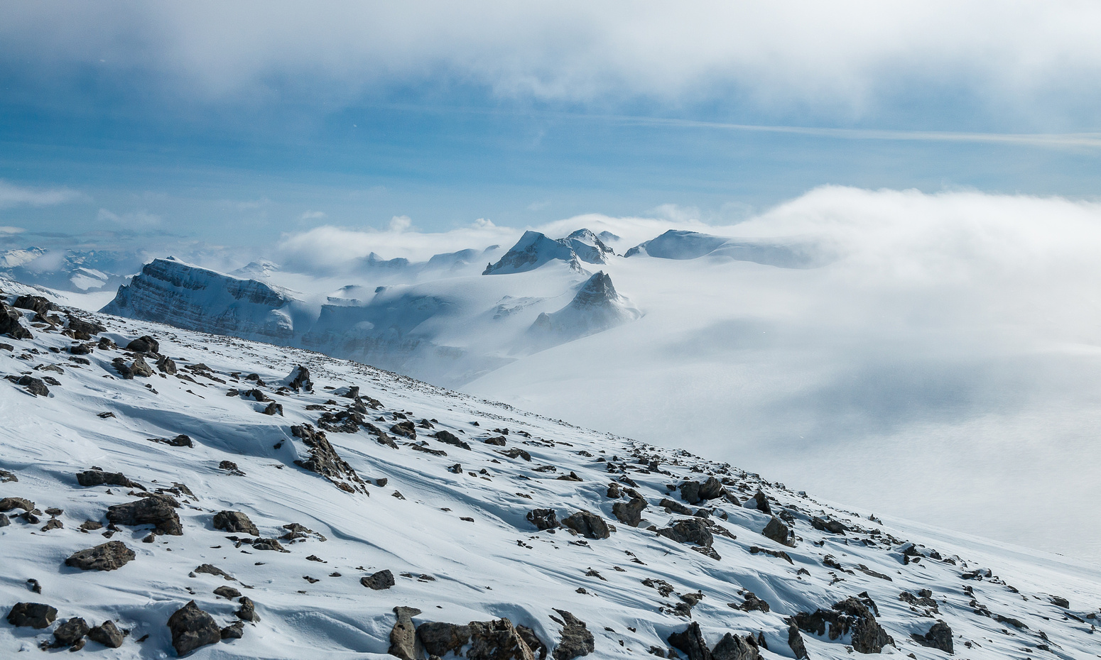 Summit scree slopes.