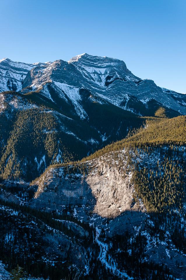 Views over Heart Creek towards Mount McGillivray.