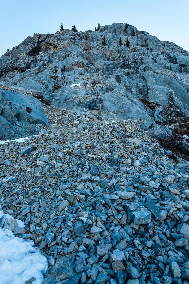 Views up the NW ridge.