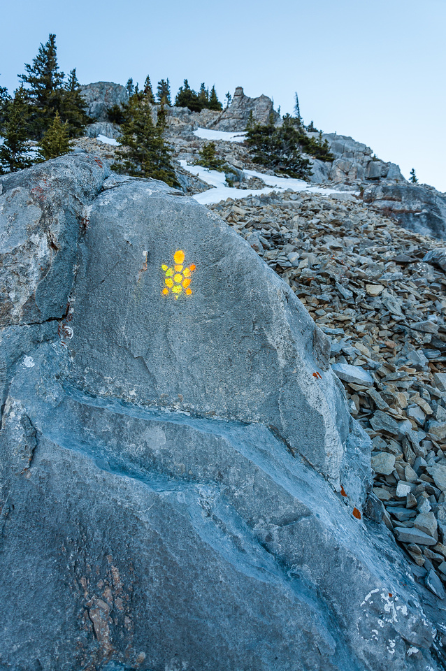 The scramble route is well marked.