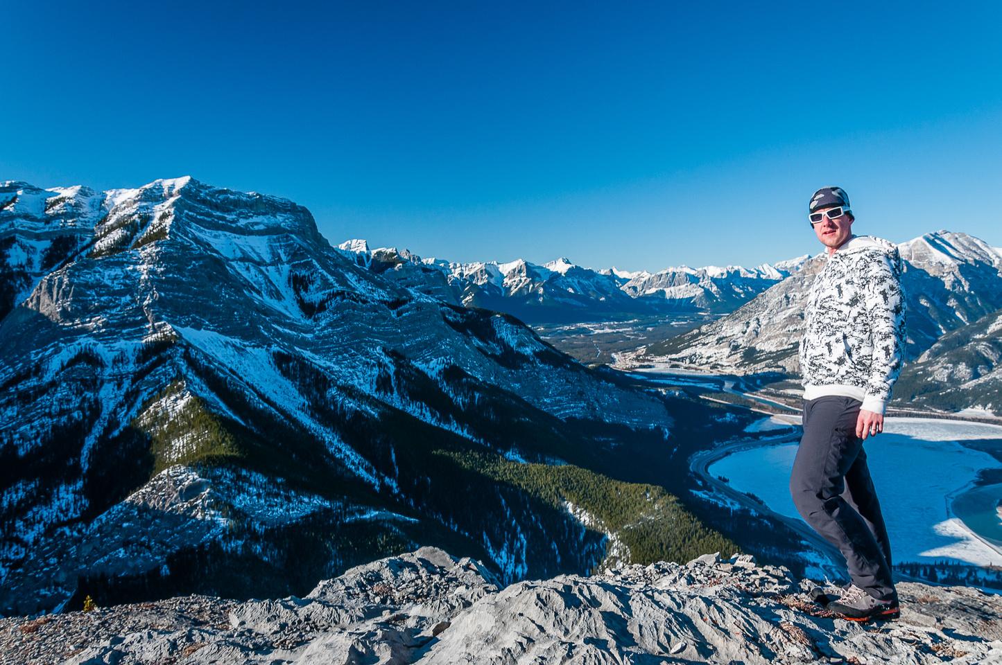 Vern on the summit of Heart Mountain.