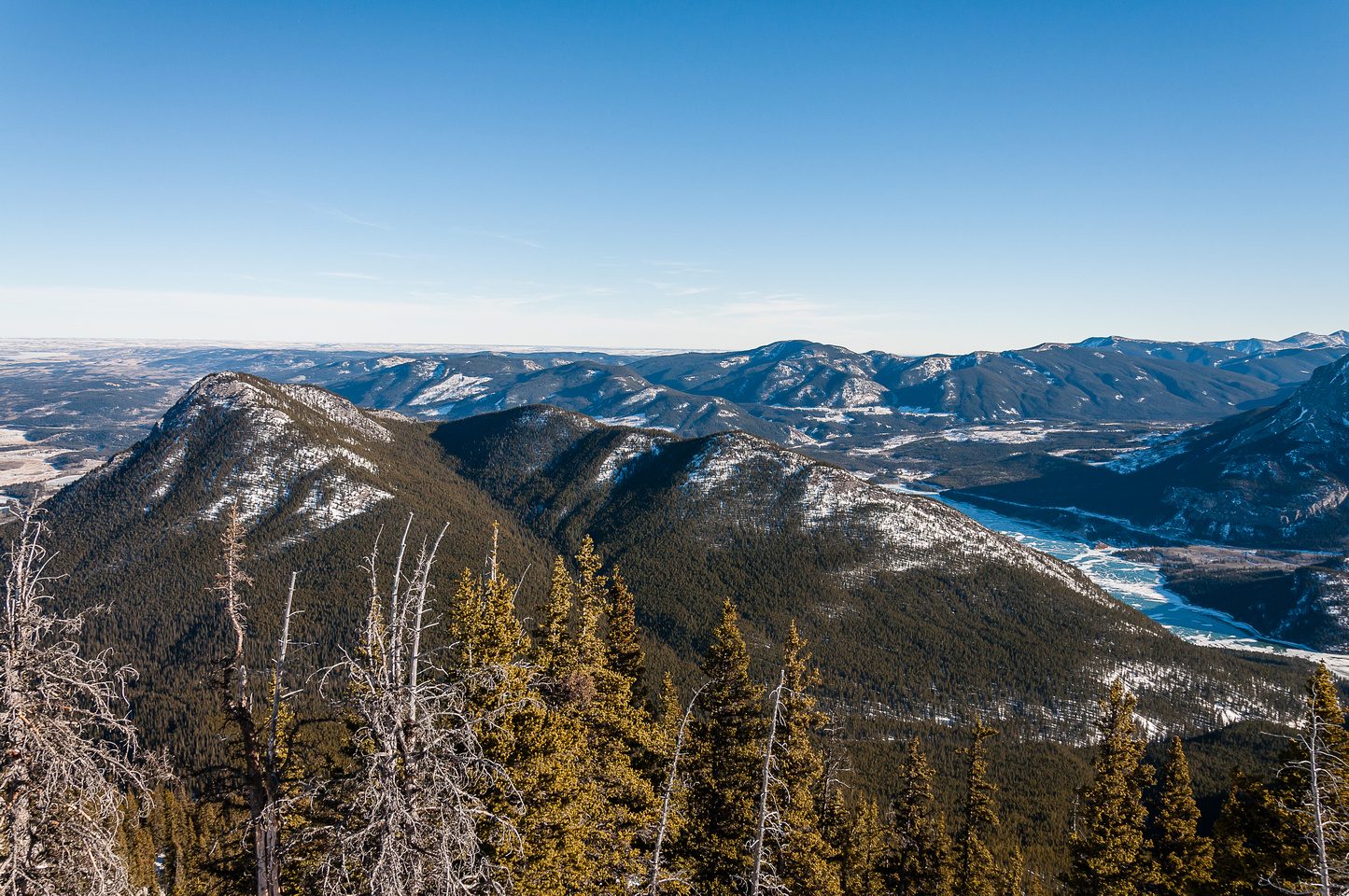 Views of Yate's Mountain, Barrier Lake and Lusk Ridge.