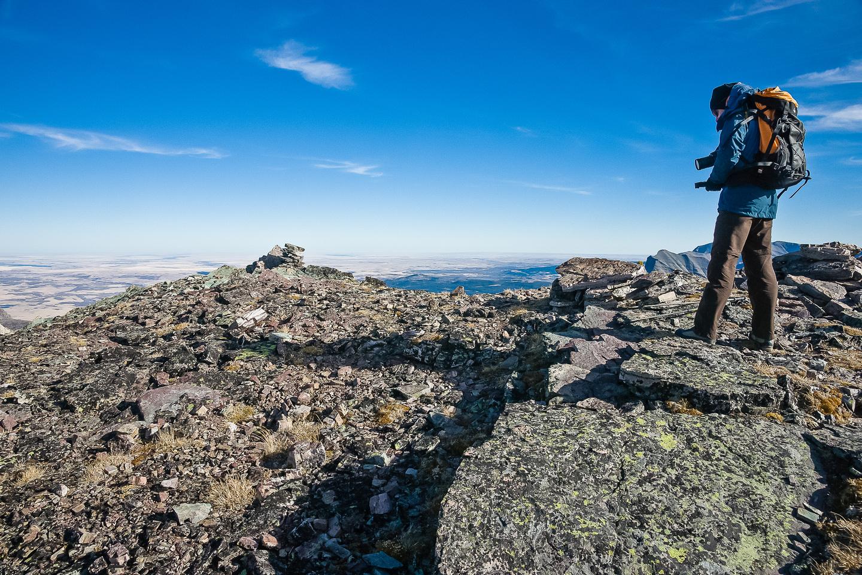 On the summit of Bertha Peak.