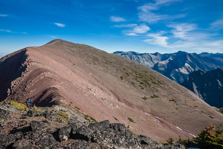 Looking back to Bertha Peak from the west ridge.