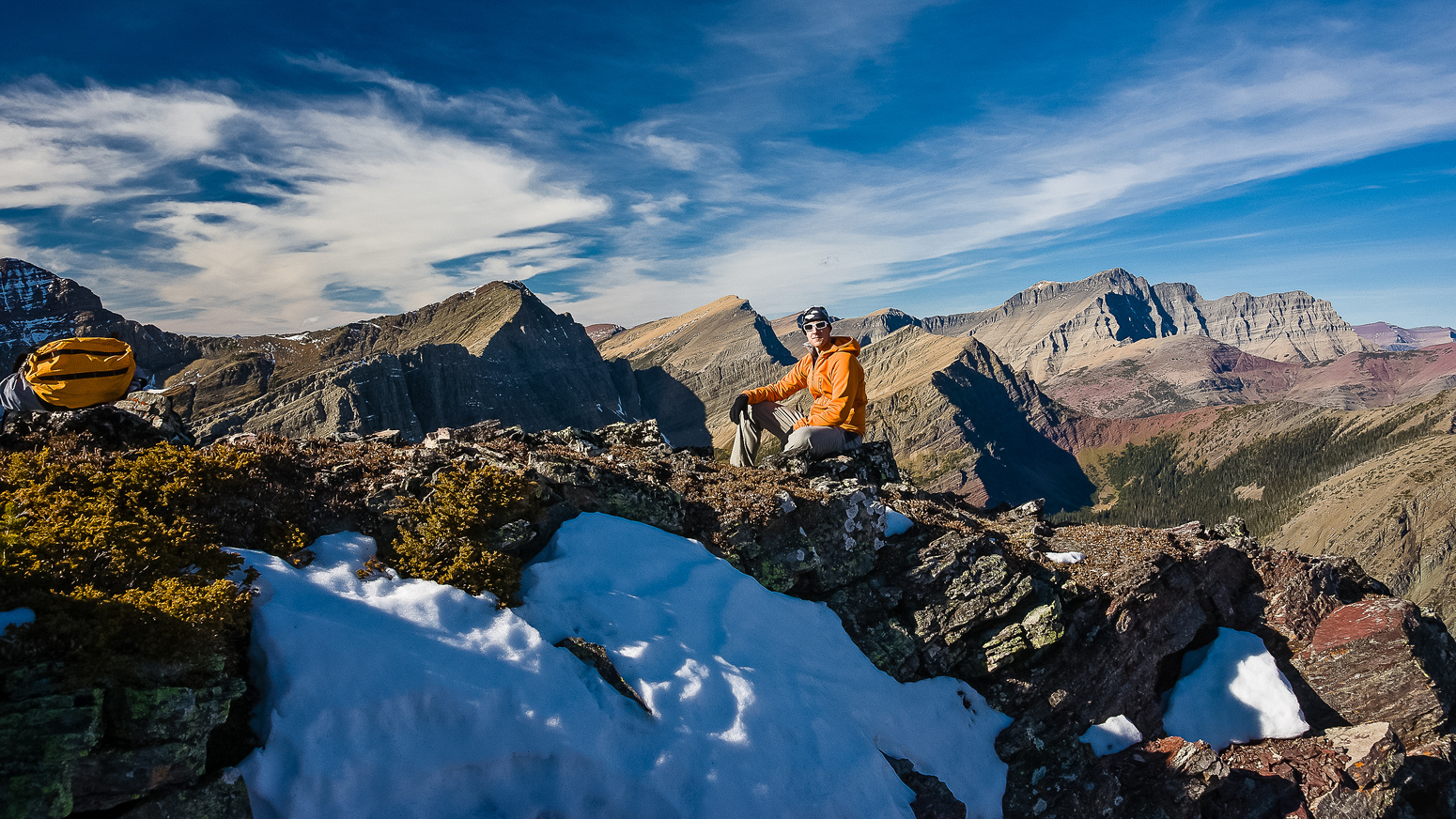 On the west ridge of Bertha Peak.