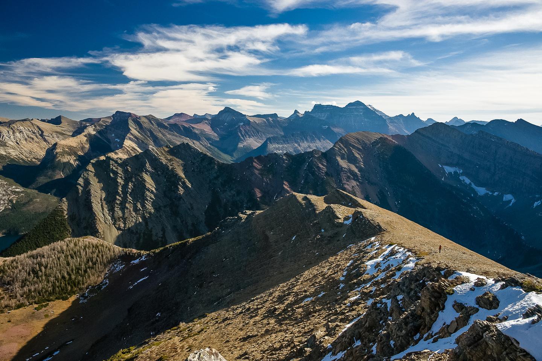 Descending Bertha Peak.