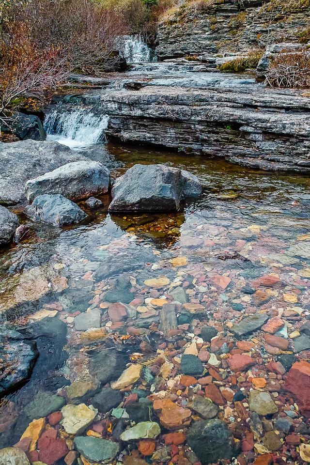 Lovely, clear water in South Drywood Creek as we cross it.