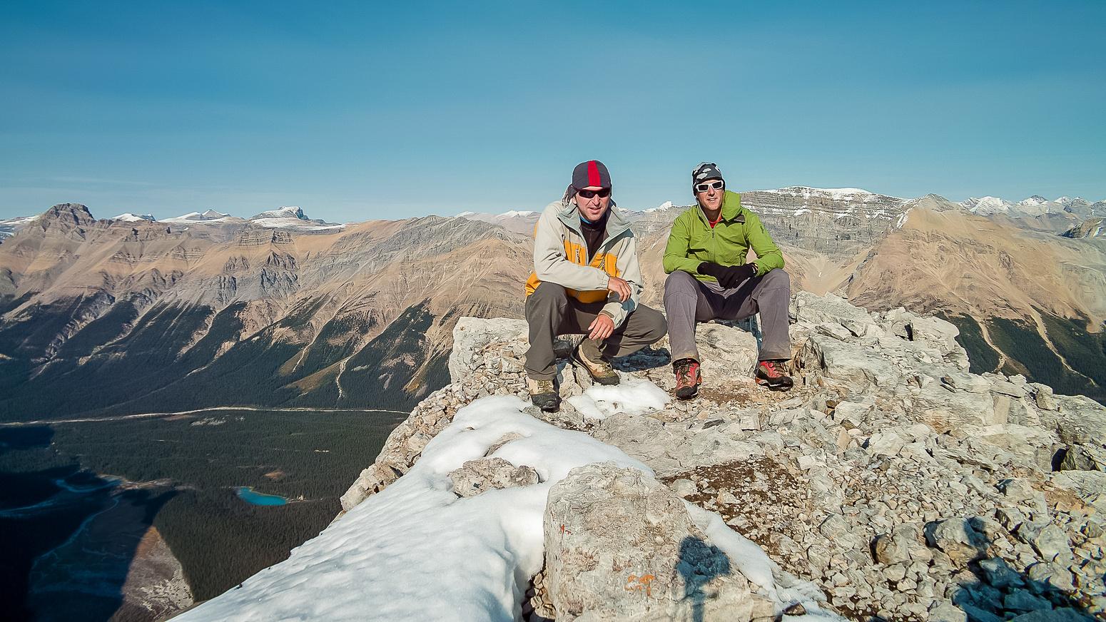 Raf and Vern on the summit of Caldron Peak.