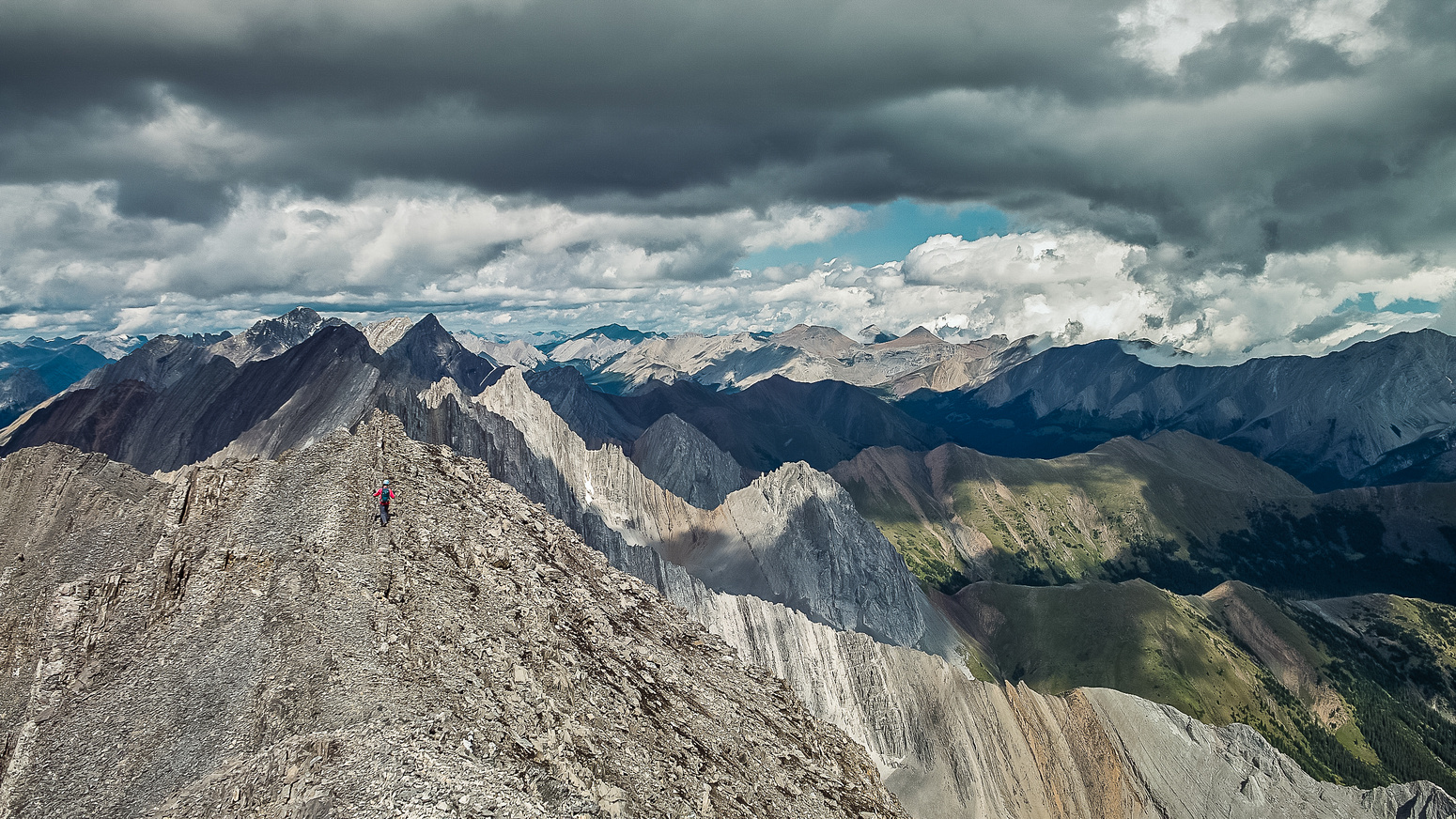 The ridge was wide in places with incredible views in all directions.