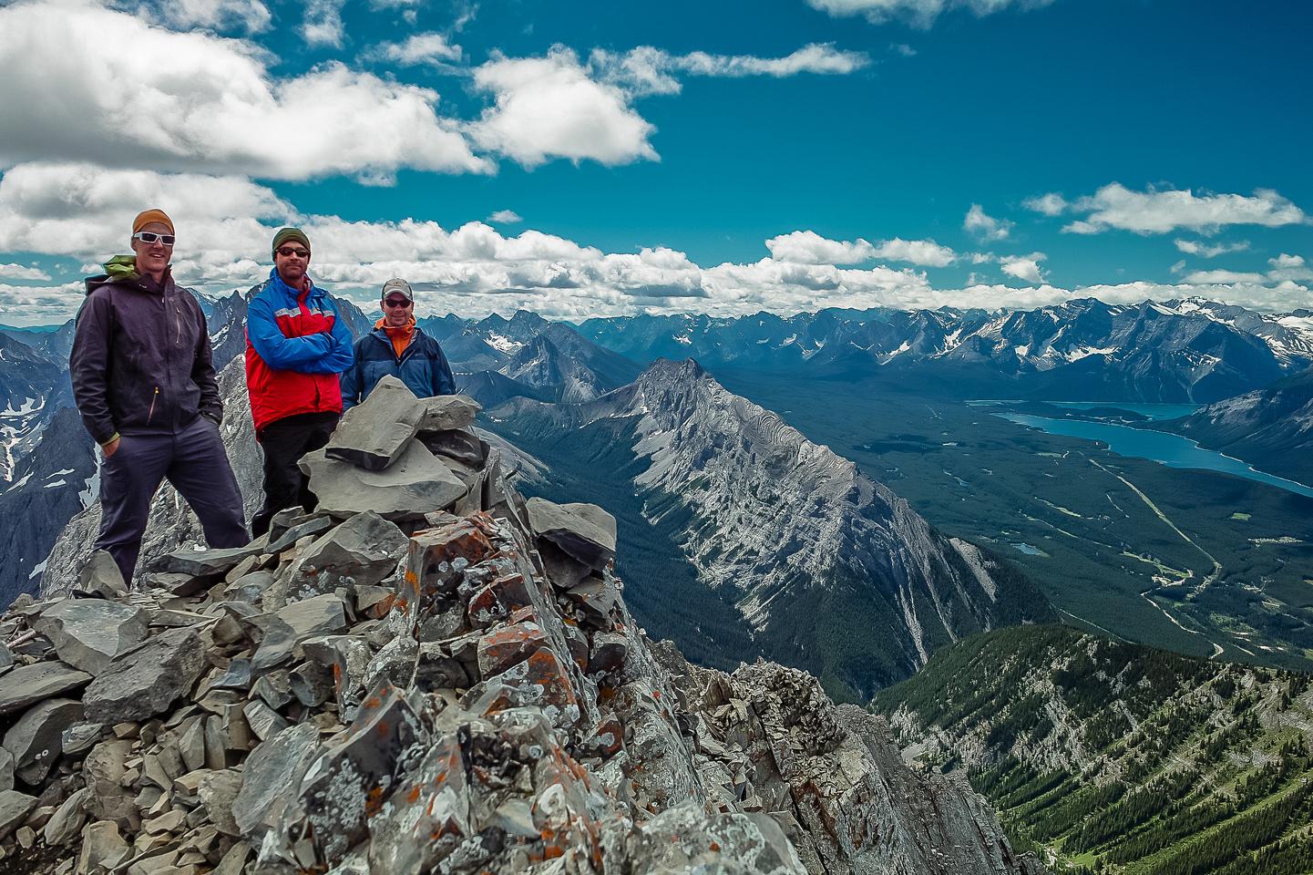 Vern, Kelly and Wietse on the summit of Mount Hood.