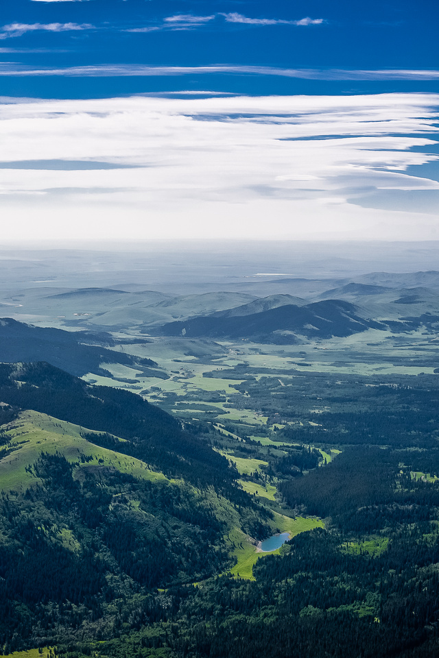 Gorgeous, lush green valleys to the east.