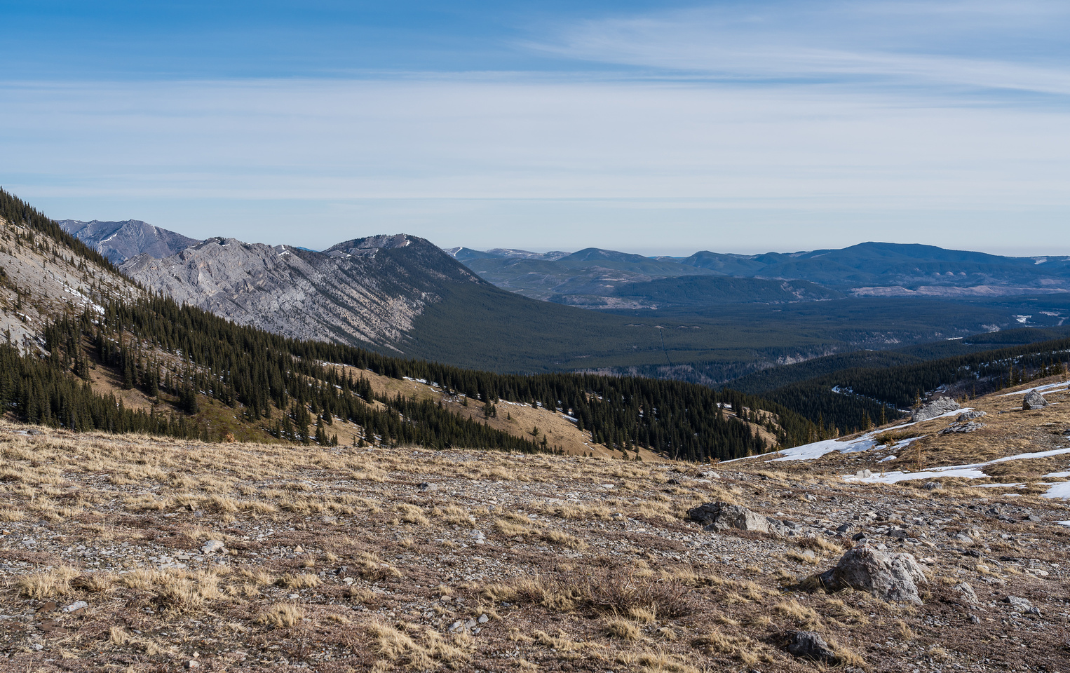 Looking north to an unnamed ridge just north of the Panther River.