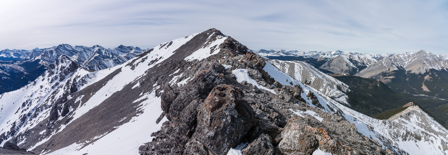 The summit comes into view.