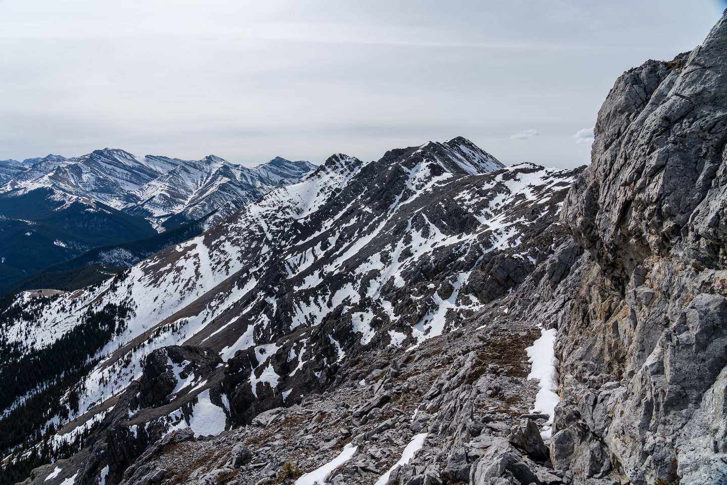 Views from the descent to the summit.