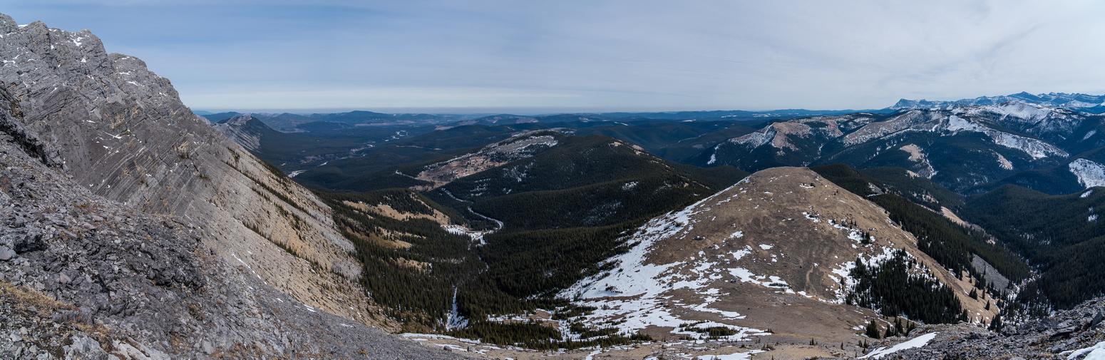 Descending Winchester Ridge.