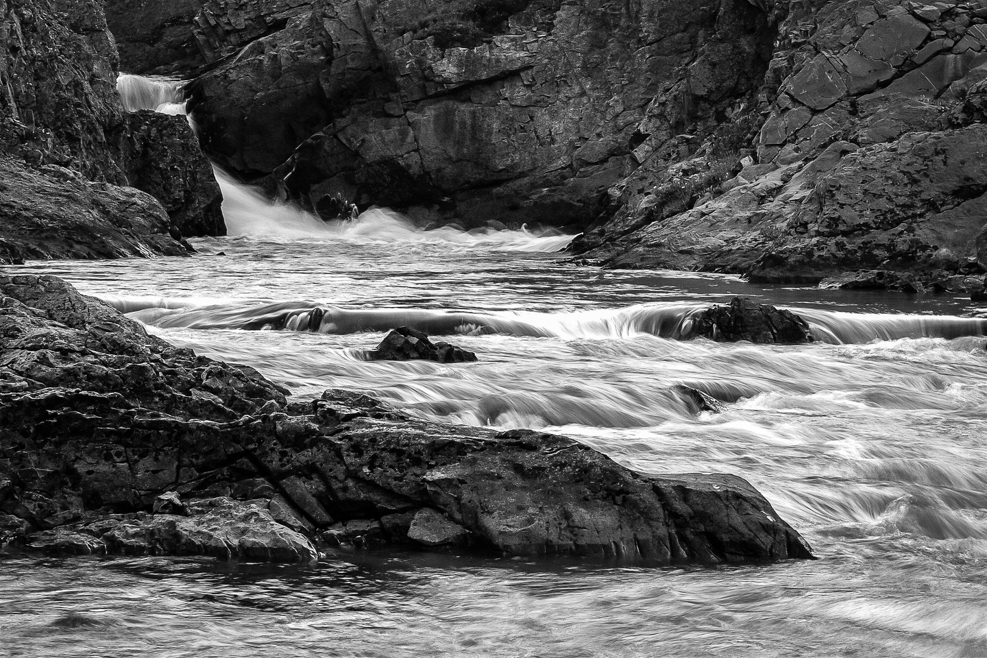 Falls along Aster Creek from near our camp site.
