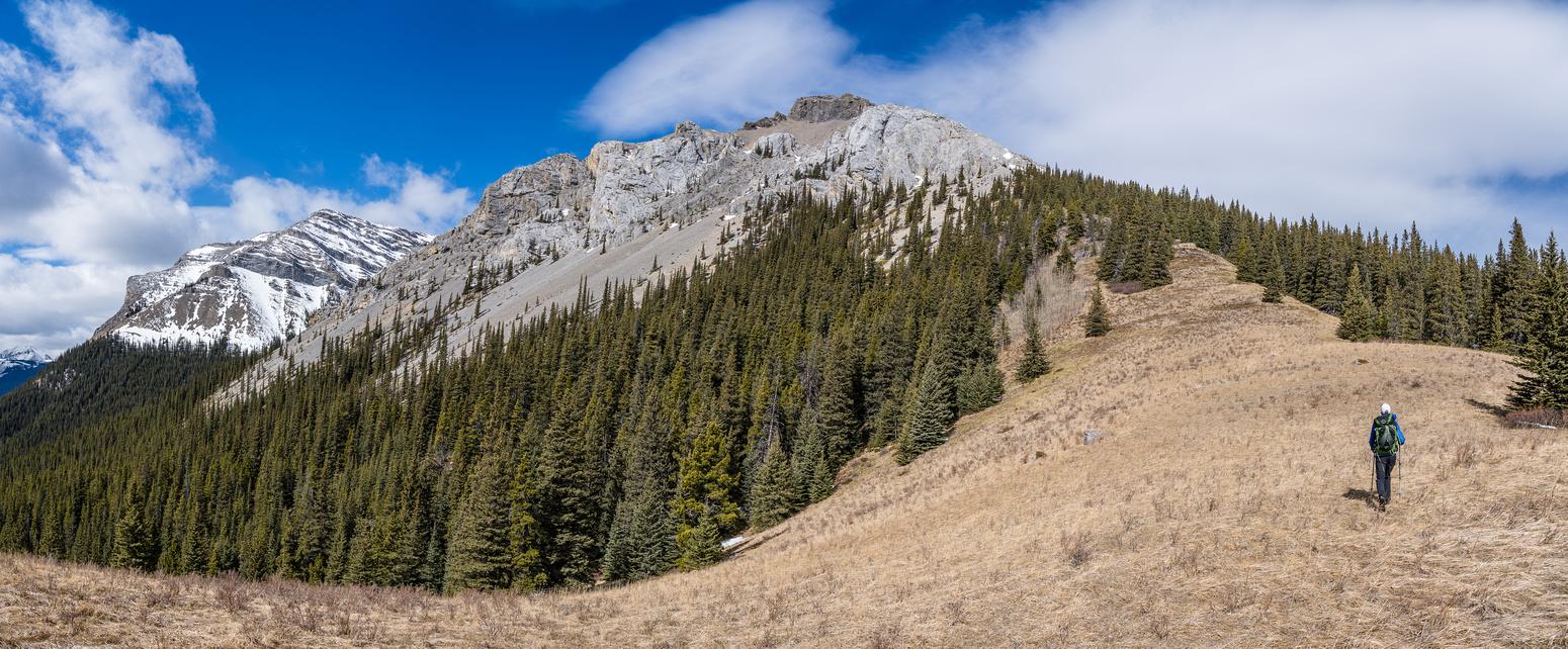 Phil hikes up the SE ridge of Dormer.