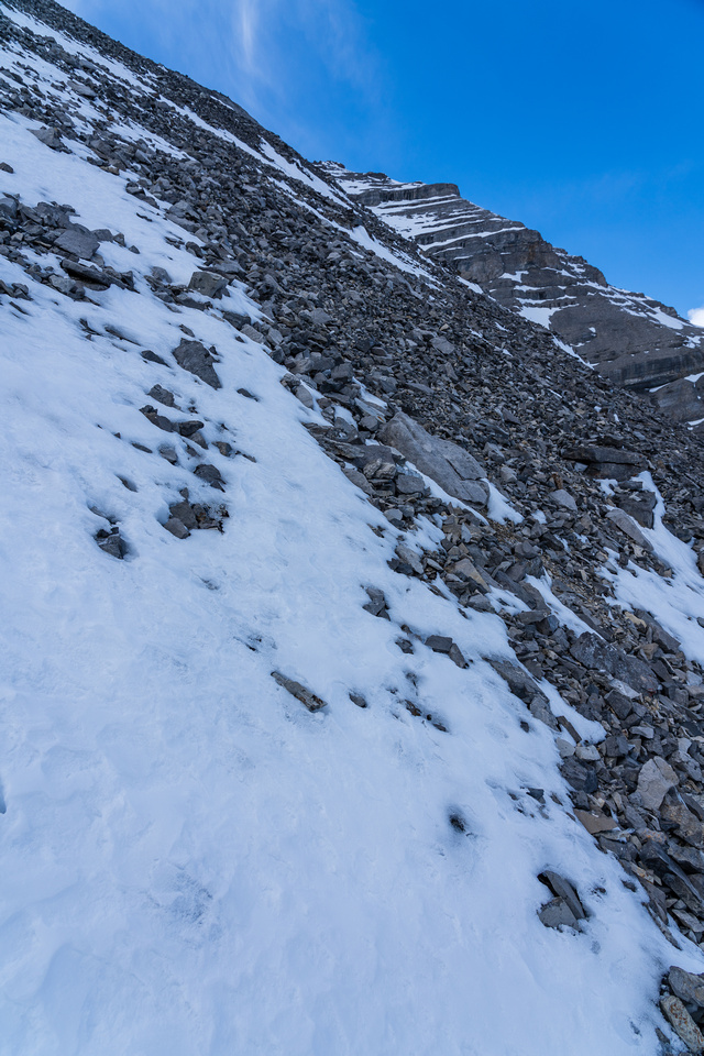 This gives a better idea of the steepness on the east face.