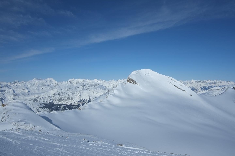 Looking back at Mount Baker.