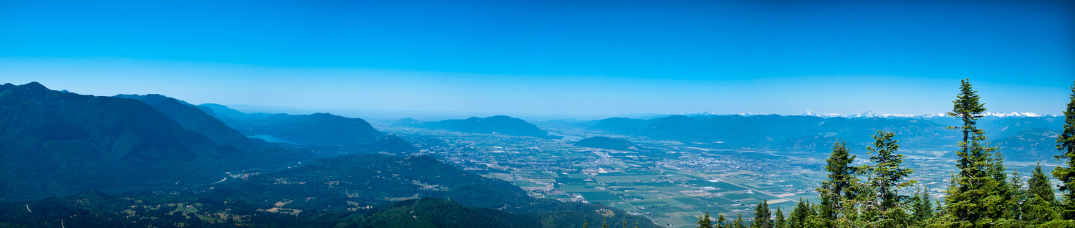 A view towards Chilliwack and the Fraser Valley.