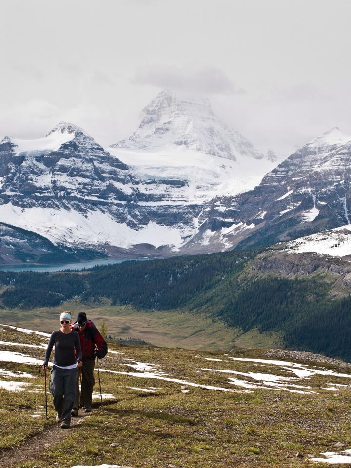 Jon and George hiking up to Windy Ridge.