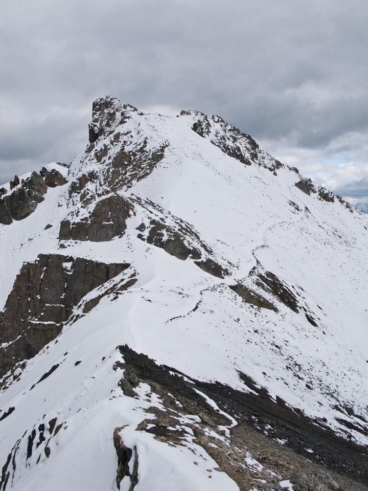 Looking ahead to the summit of Wonder Peak.