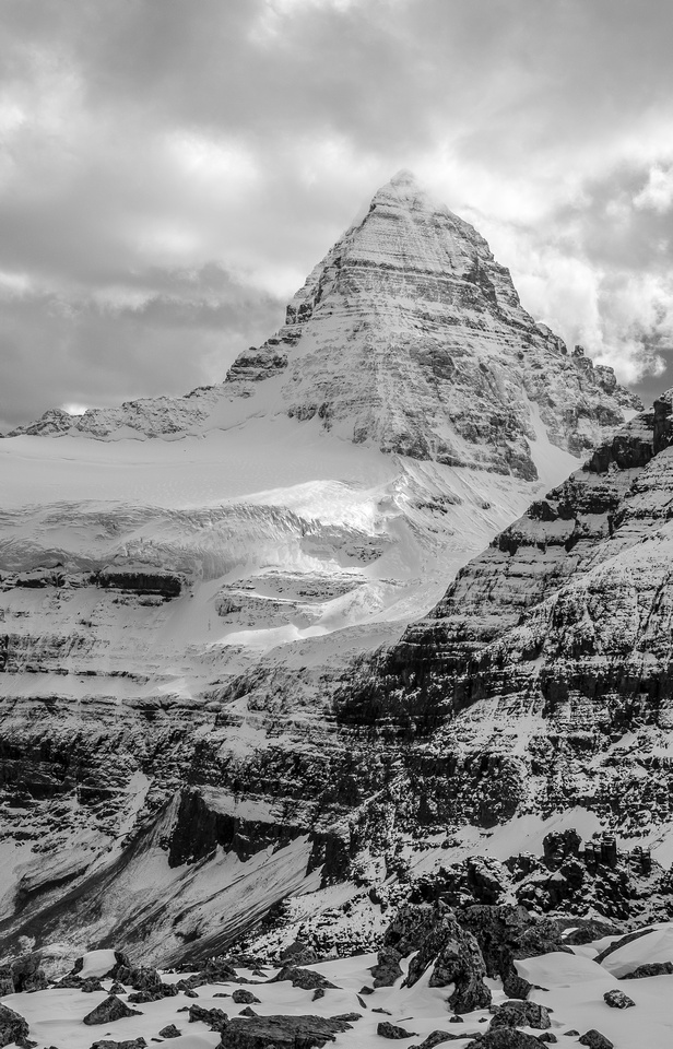 The mighty Mount Assiniboine. Her NE ridge looking very fierce!