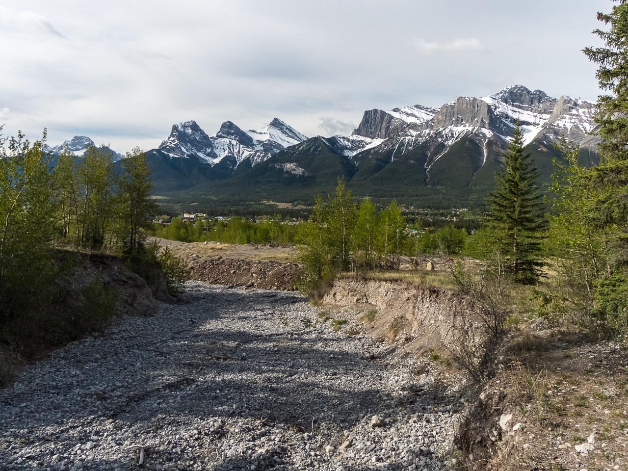 Looking back at the approach from near where I intersected the stream bed.