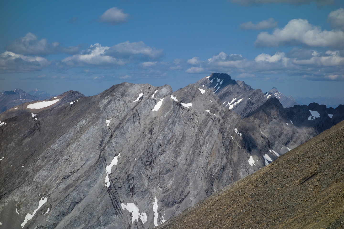 Mount Sir Douglas with Mount French in the foreground.