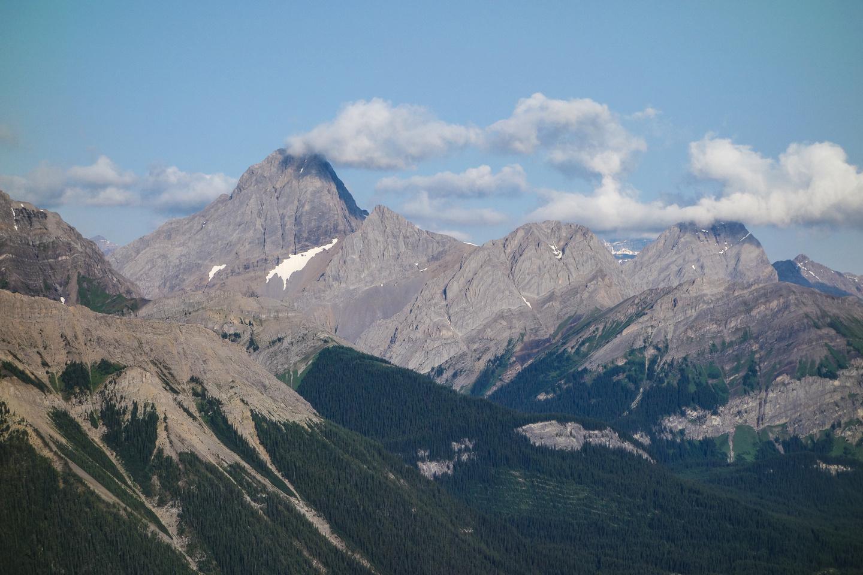 Mount Birdwood across the valley.