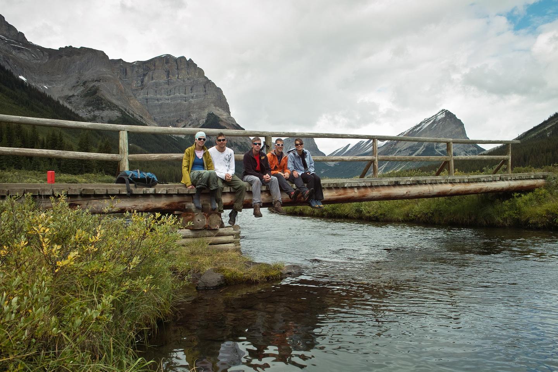 14km to go - we take a last break over Bryant Creek.