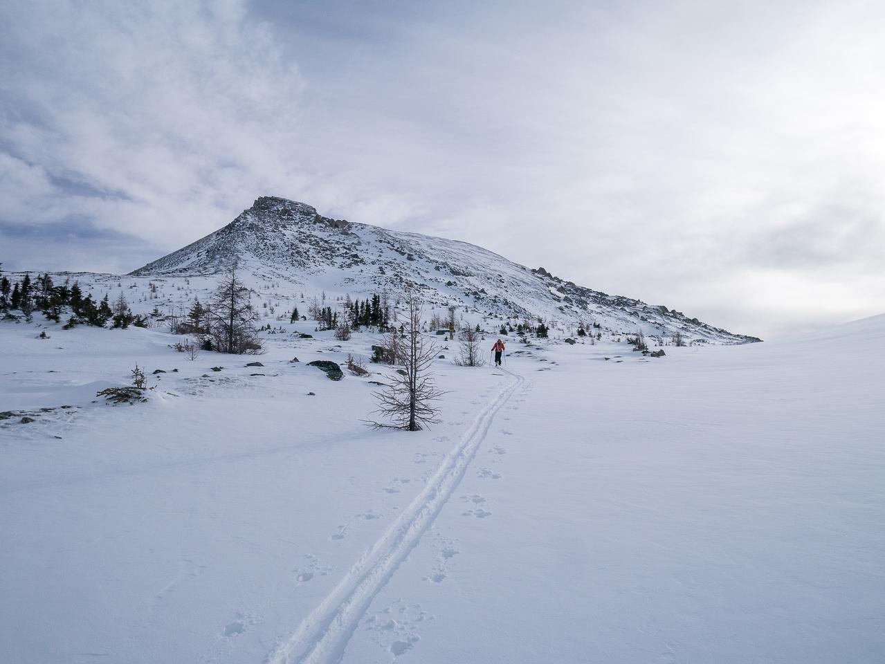 Heather Ridge. The summit is tucked around on the far side.