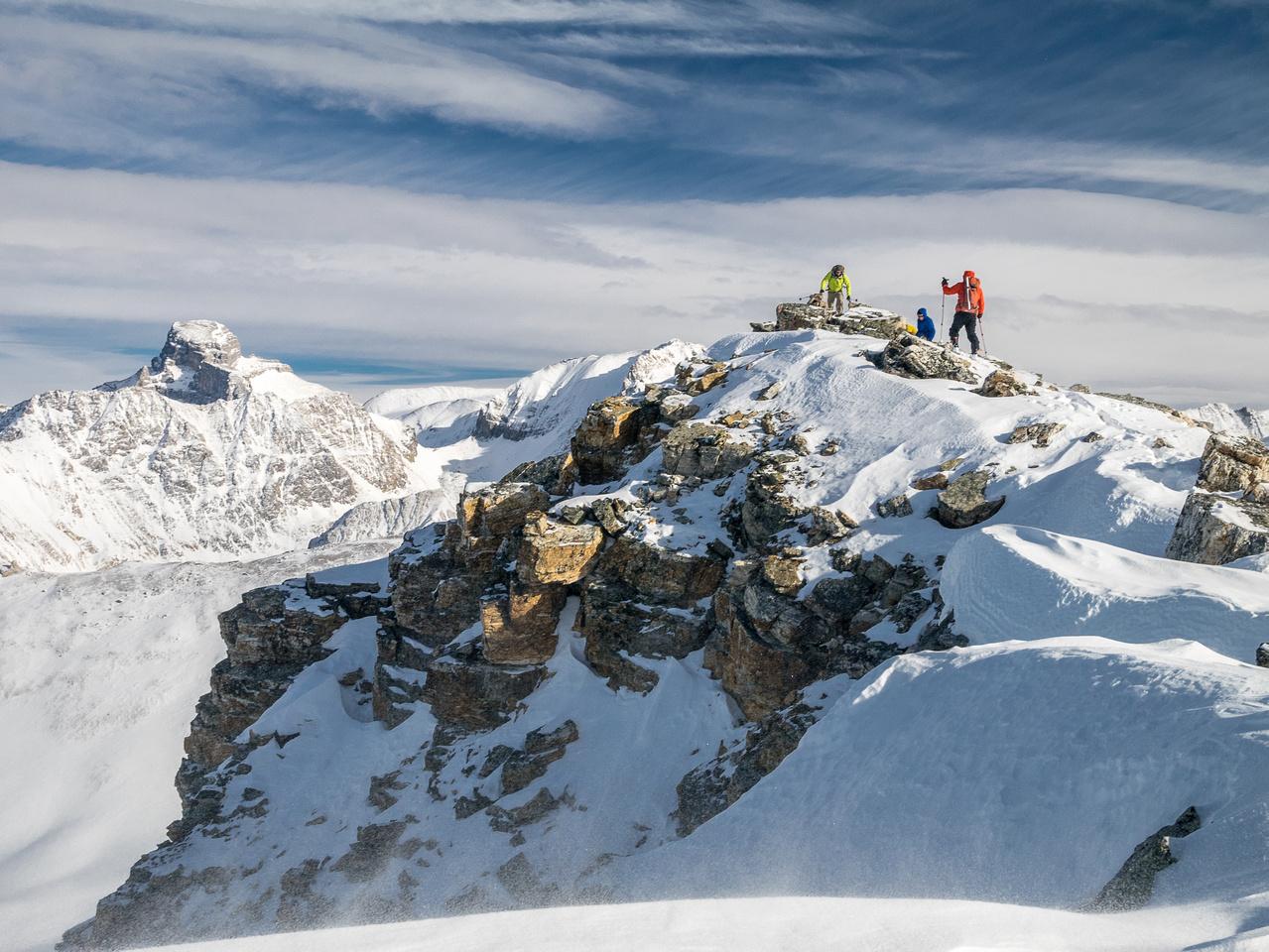 The team on the summit of Heather Ridge.